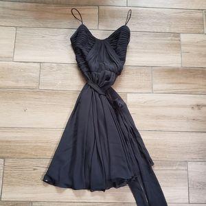 Ralph Lauren black ruched mini dress 12